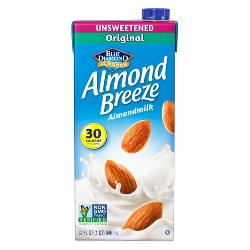 Blue Diamond Almond Breeze Unsweetened Almond Milk - 32 fl oz