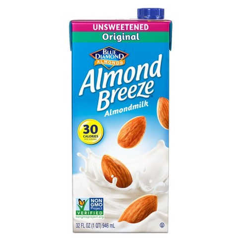 Blue Diamond Almond Breeze Unsweetened Almond Milk - 32 fl oz - image 1 of 3