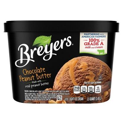 Breyers Chocolate Peanut Butter Ice Cream - 48oz