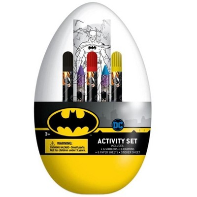 Innovative Designs DC Batman Activity Egg Craft Kit | Coloring Pages | Stickers | Markers | Crayons