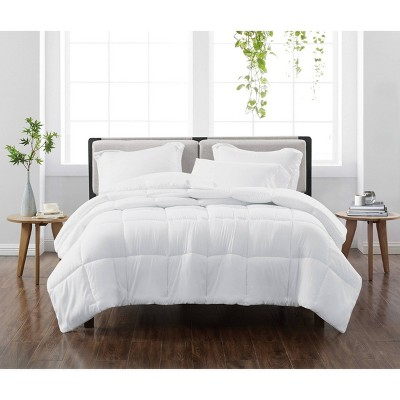 King 3pc Solid Comforter Set White - Cannon Heritage