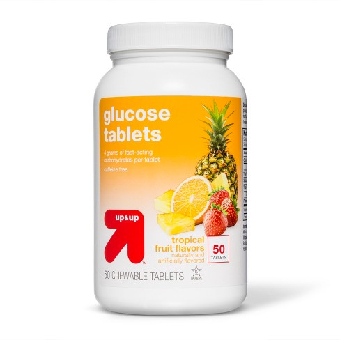 Glucose Tablets - Tropical Fruit Flavor - 50ct - Up&Up™ (Compare to Dex4) - image 1 of 1