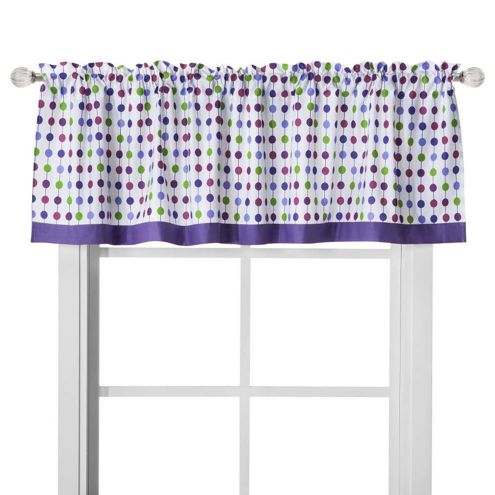 Image of Bacati Window Valance - Botanical Purple