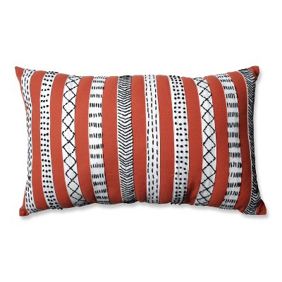 "12""x20"" Decorative Bands Lumbar Throw Pillow - Pillow Perfect"