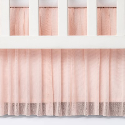 Crib Skirt Tulle - Cloud Island™ Light Pink
