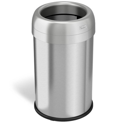 halo quality 13gal Round Top Stainless Steel Trash Can and Recycle Bin with Dual Deodorizer