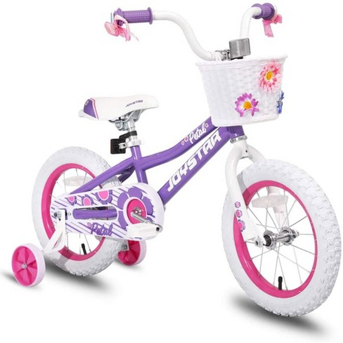 Joystar Petal 12 Inch Kids Toddler Pedal Bike Bicycle with Training Wheels, Rubber Air Tires, and Coaster Brakes, for Ages 2 to 4 - image 1 of 3