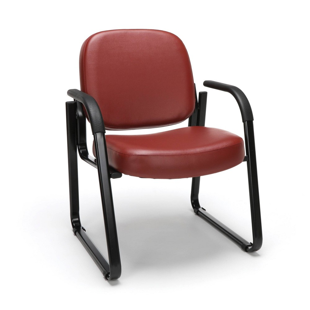 Guest and Reception Chair with Arms Wine (Red) - Ofm