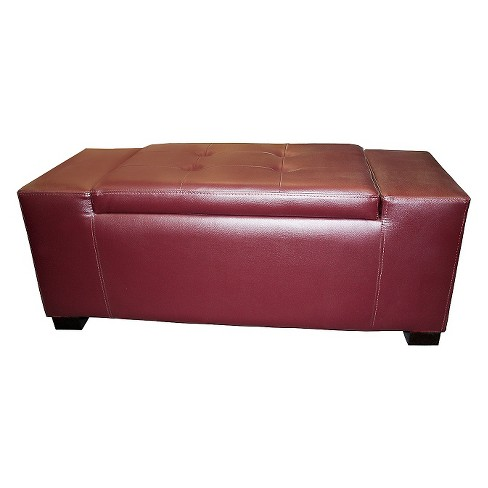 Unique Rectangular Storage Bench Red Ore International