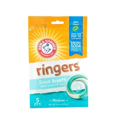Arm & Hammer Ringers Dental Dog Treats - 5ct