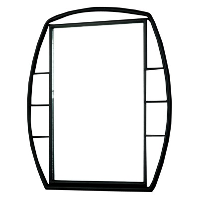 Carini Industrial Wall Mountable Metal Mirror Black - HOMES: Inside + Out