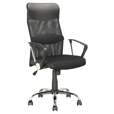 Workspace Executive Office Chair Leatherette and Mesh Black - CorLiving