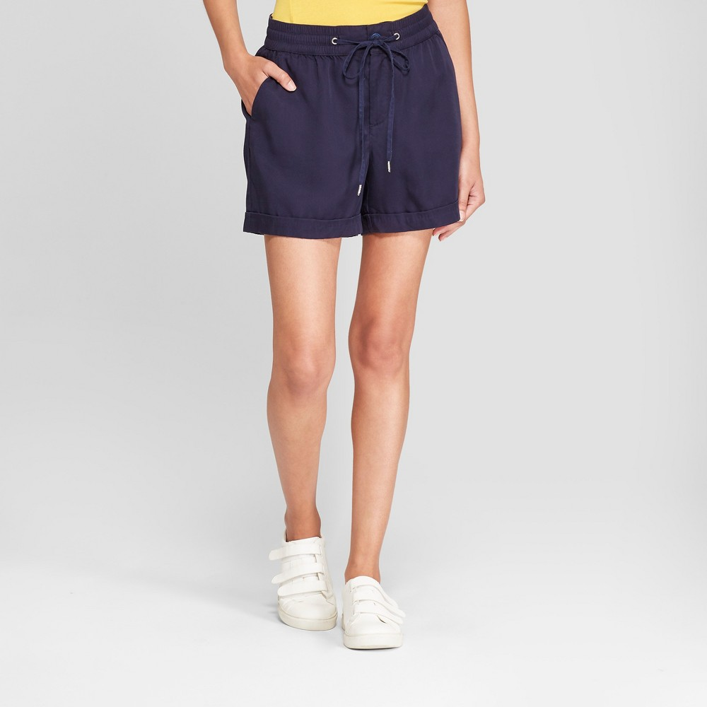Women's Twill Shorts - A New Day Navy (Blue) M