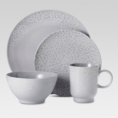 16pc Dinnerware Set Gray - Threshold™