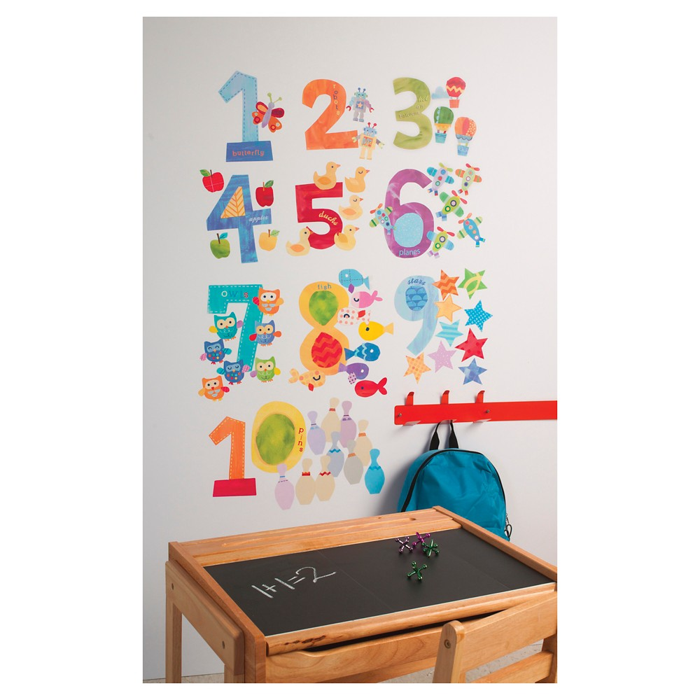 Counting Numbers Wallplay Peel & Stick Wall Decal Multicolor 2 Sheets - Wallies, Multi-Colored