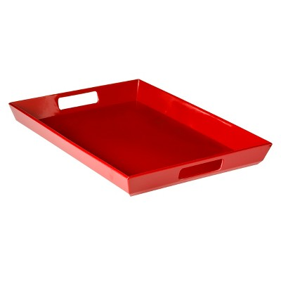 Large Handled Serving Tray 13.5 x19  Set of 2 Melamine Red - Room Essentials™