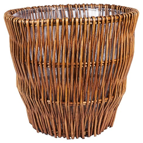 Household Essentials - Medium -  Reed Willow Waste Basket -Brown - image 1 of 1
