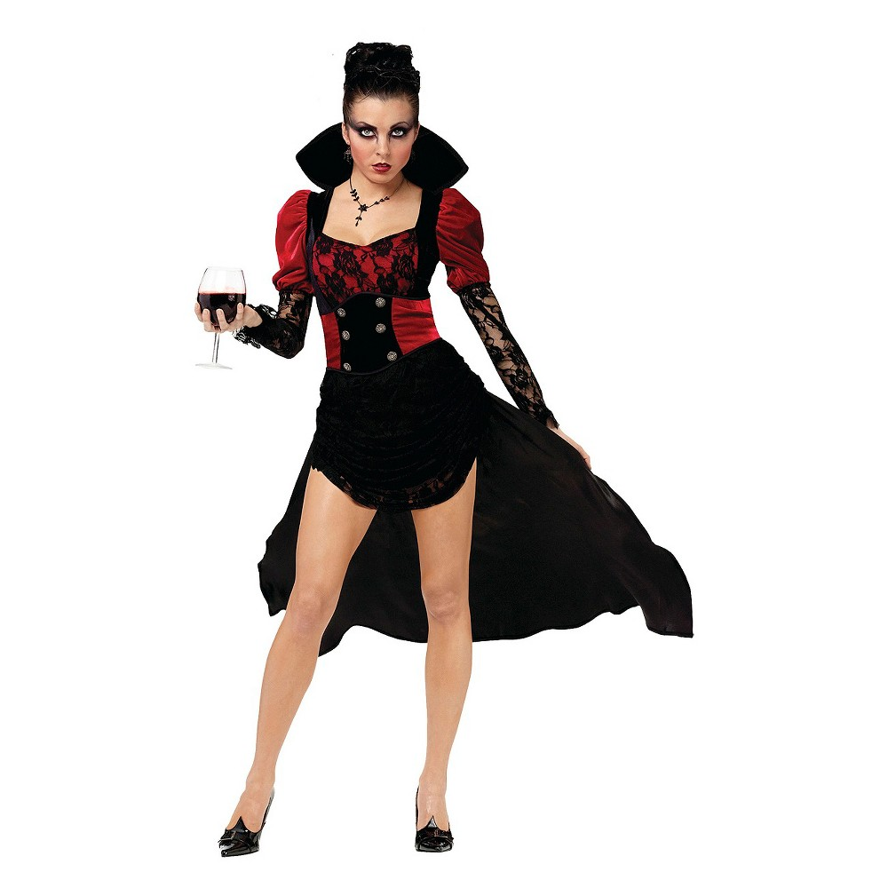 Women's Vampiressa Costume - Large, Red