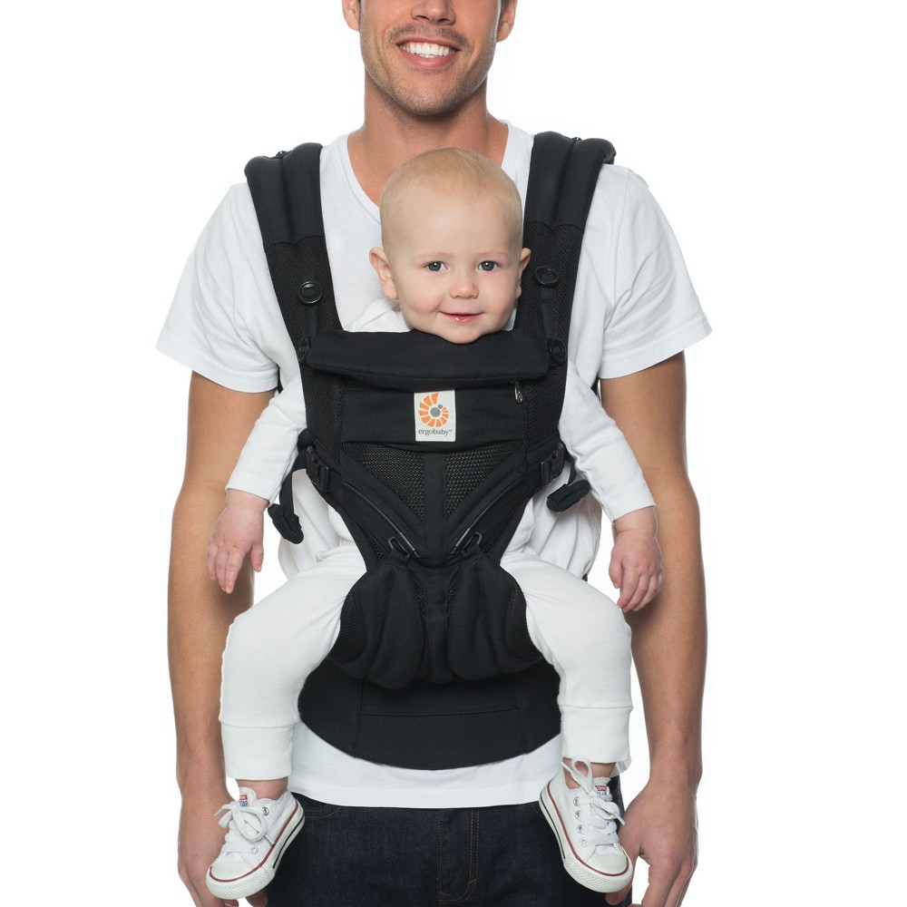Image of Ergobaby Omni 360 Cool Air Mesh All Carry Positions Baby Carrier - Black