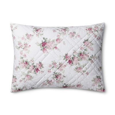 White Blooming Blossoms Pillow Sham (Standard)- Simply Shabby Chic®