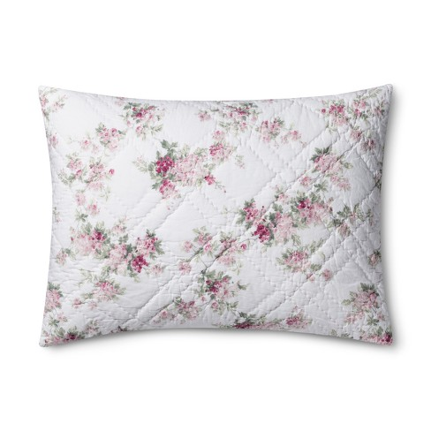 White Blooming Blossoms Pillow Sham - Simply Shabby Chic® - image 1 of 3