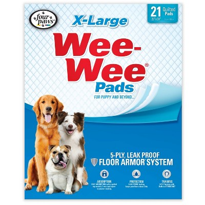 Four Paws Wee-Wee Dog Pads - 21ct - XL