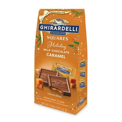 Ghirardelli Holiday Milk Chocolate Caramel Squares - 6.38oz