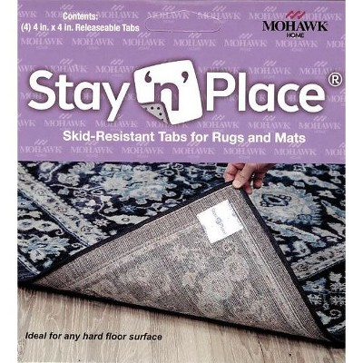 4'x4' Stay 'n' Place Adhesive Rug Tabs Ivory - Mohawk Home