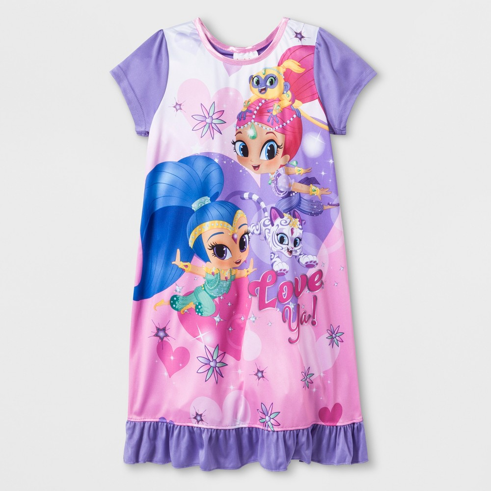 Girls' Shimmer and Shine Dorm Nightgown - 6, Multicolored