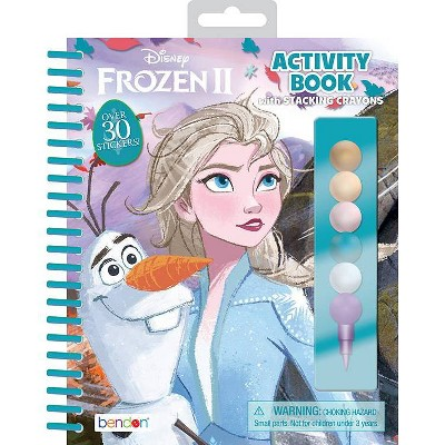 Frozen 2 Activity Book with Stacking Crayons
