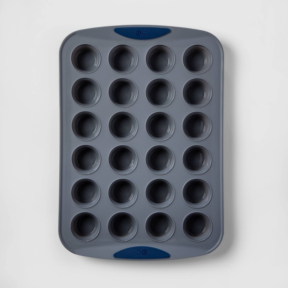 Image of 24ct Silicone Mini Muffin Pan - Made By Design , Gray