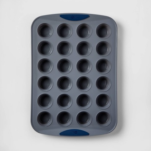 24ct Silicone Mini Muffin Pan - Made By Design™ - image 1 of 2