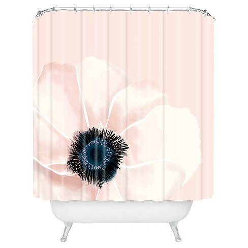 Khristian A Howell Fleur Floral Shower Curtain By Rose