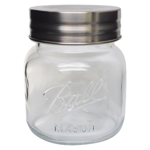 e2db968abe52 Ball 64oz Extra Wide Half-Gallon Decorative Mason Jar with Metal Lid