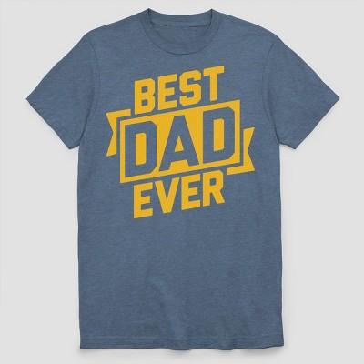 Men's Best Dad Ever Short Sleeve Graphic T-Shirt Navy Heather