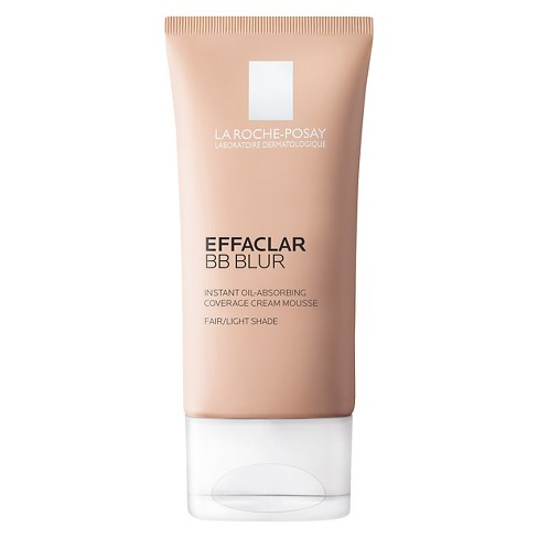 La Roche Posay Effaclar BB Blur Light Or Medium Oil Absorbing Face Cream Mousse with Sunscreen - SPF 20 - 1.0oz - image 1 of 5