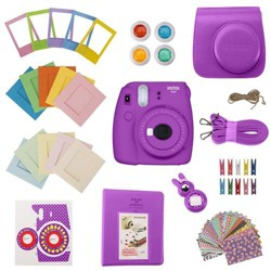 Slinger FujiFilm Instax Mini 9 Accessory Kit - Purple (Camera Not Included)