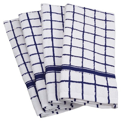 Windowpane Terry Dishtowels Set Of 4 - Design Imports
