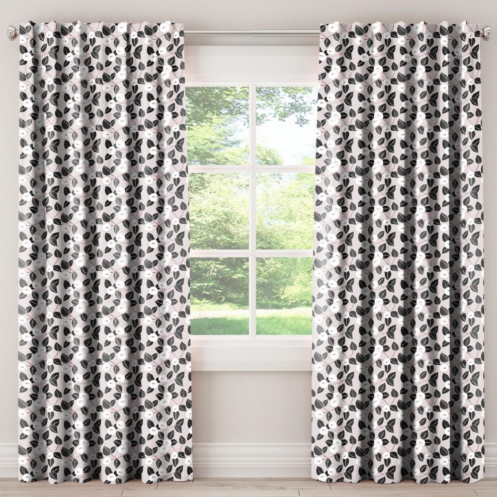 Unlined Curtains Dorset Floral Blush 108L - Skyline Furniture