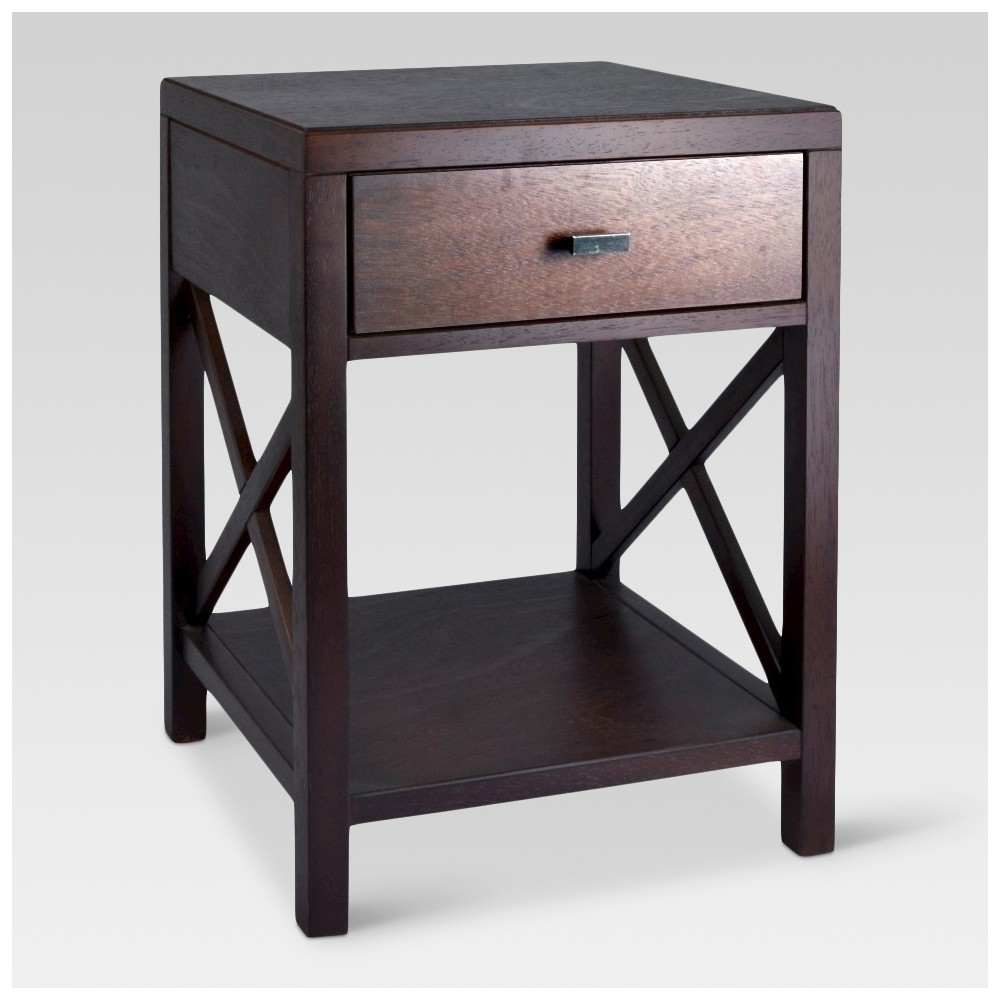 Owings Side Table with Drawer Espresso - Threshold was $99.99 now $49.99 (50.0% off)