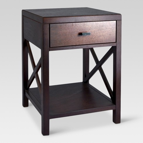 side table with drawer Owings Side Table With Drawer Espresso   Threshold™ : Target side table with drawer