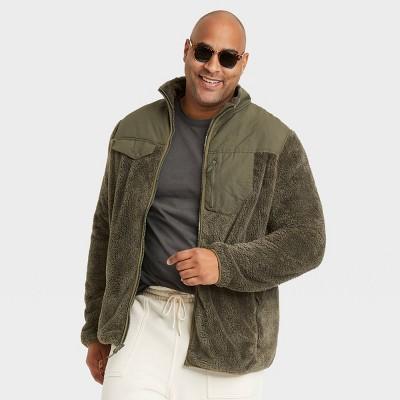 Men's Long Sleeve Faux Fur Sherpa Jacket - Goodfellow & Co™