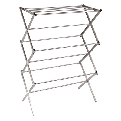 Household Essentials® X-Frame Folding Drying Rack - Stainless Steel