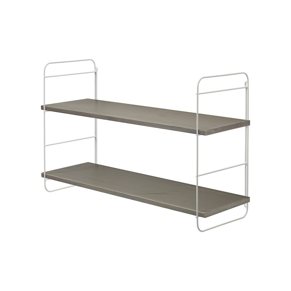 "Image of ""31.5"""" x 9.7"""" Scala Pine Shelf Gray/White - Dolle Shelving"""