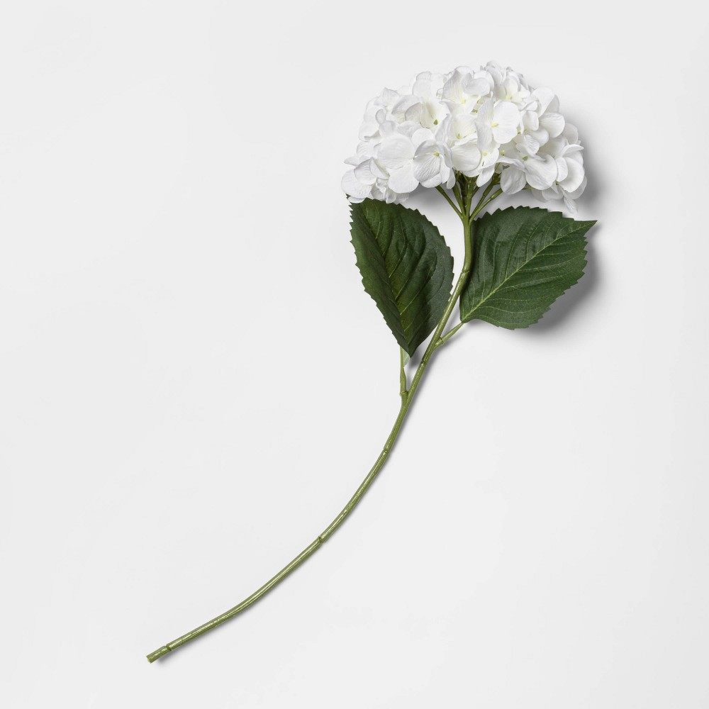 "Image of ""24"""" Artificial Hydrangea Stem White - Threshold"""