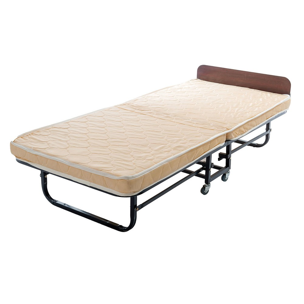 Metal Folding Bed with Pull Down Legs Twin Black - Home Source