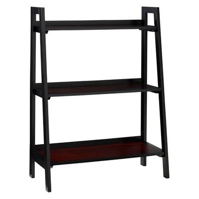 Camden 3 Shelf Ladder Bookcase Black Cherry - Linon Home Decor