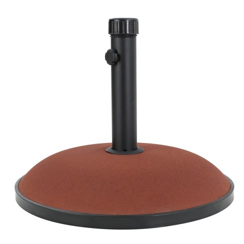 Terracotta 66lbs Round Concrete and Iron Umbrella Base - Christopher Knight Home - image 1 of 5