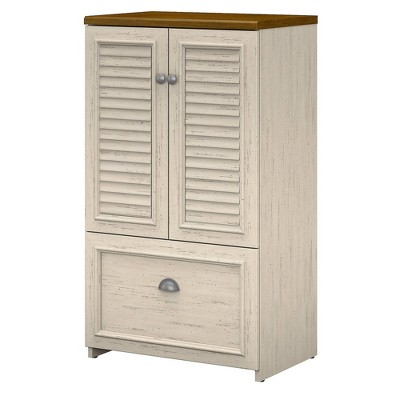 Fairview Storage Cabinet with Drawer White - Bush Furniture
