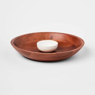 2pc Ceramic Signature Chip and Dip Serving Bowl - Threshold™